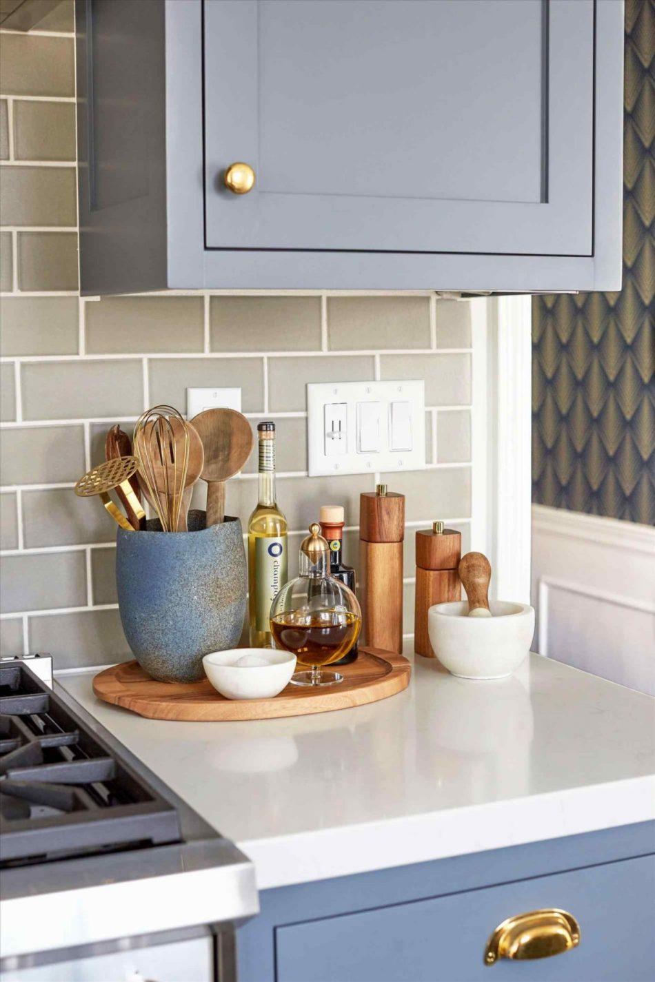 Accessoires de décoration de comptoir de cuisine