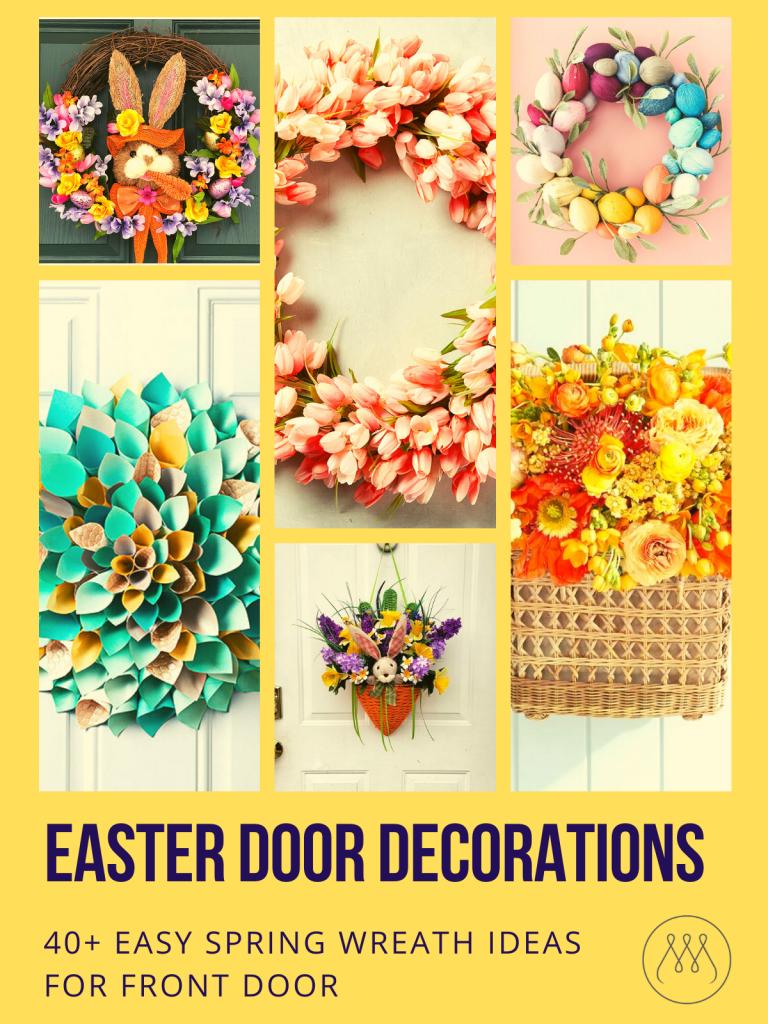 "Easter Decoration Wooden Sign Spring Wreath Decor Classroom Floral Arrange 26/"""